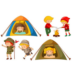 happy children doing different activities for vector image vector image