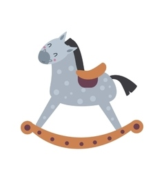 Horse toy breed vector