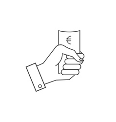 icons hand holding money vector image vector image