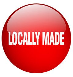 Locally made red round gel isolated push button vector