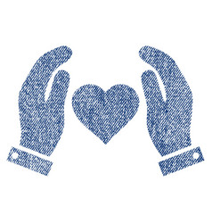 Love care hands fabric textured icon vector