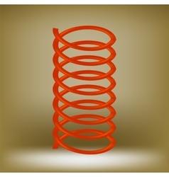 Metal red spring vector