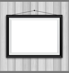 picture frame on wood background 1503 vector image vector image