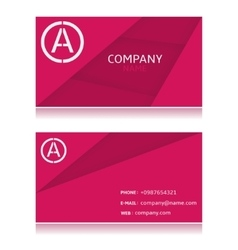 Pink card vector image vector image