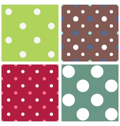 Polka dot seamless patterns vector image vector image