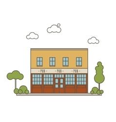 Pub Building Flat Style vector image