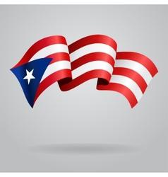 Puerto Rican waving Flag vector image vector image