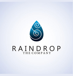 Raindrop logo ideas design vector