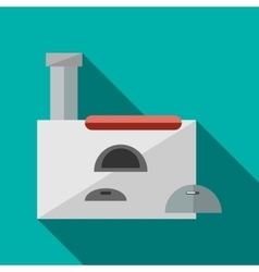 Russian stove icon in flat style vector image vector image