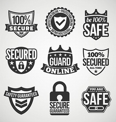 Security labels vector image
