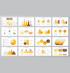 set of beer and bar pub elements for multipurpose vector image