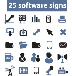 Software signs vector vector
