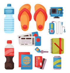 travel time summer vacation accessory in vector image vector image