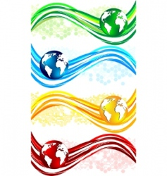 wavy banners vector image vector image