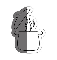 Kitchen pot icon vector