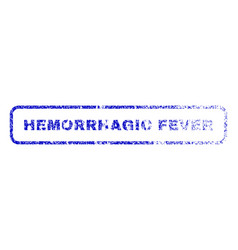 Hemorrhagic fever rubber stamp vector