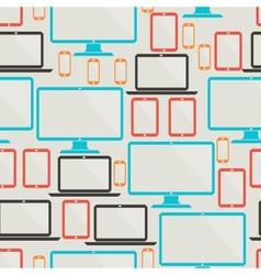 Seamless pattern with electronic devices vector