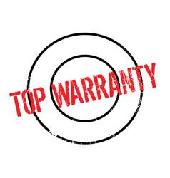 Top warranty rubber stamp vector