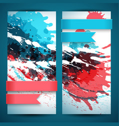 Two abstract artistic banner set vector