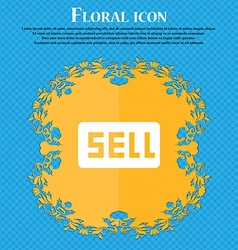 Sell contributor earnings floral flat design on a vector