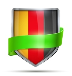 Shield with flag Germany and ribbon vector image