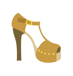 Ankle strap shoe on a heel isolated footwear flat vector