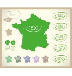 Bio map fr france vector