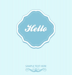 Blue vintage frame and background vector image vector image