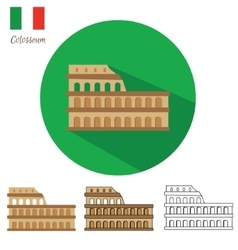 Colosseum icon set vector