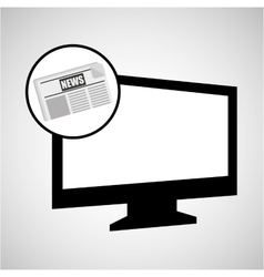 computer news journal graphic vector image