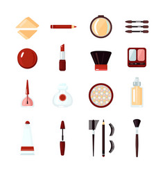 cosmetics icon set vector image