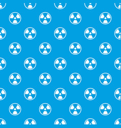 Danger nuclear pattern seamless blue vector