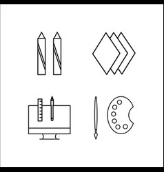 Design and studio simple linear icon setsimple vector