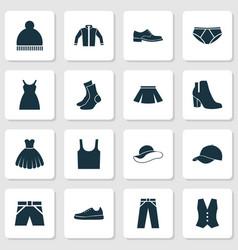 Dress icons set collection of briefs half-hose vector