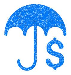 Financial umbrella grunge icon vector