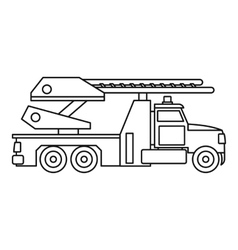 Fire truck icon outline style vector