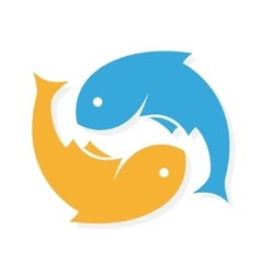 Fish logo design template infinity vector