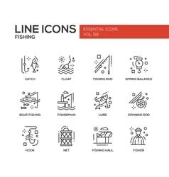 Fishing - line design icons set vector