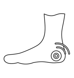 Foot heel icon outline style vector