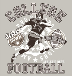 Football college vector