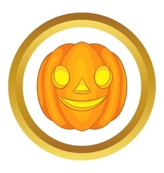 Halloween pumpkin icon vector