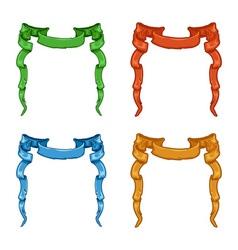 Heraldic colored ribbons vector