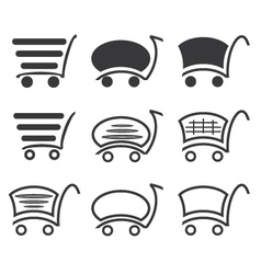Icon set shopping vector image vector image