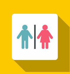 Male and female toilet sign icon flat style vector