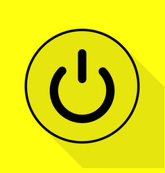 On off switch sign black icon with flat style vector