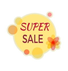 Sale Sticker in Flat Design vector image