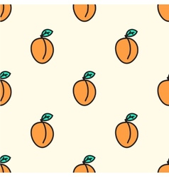 Seamless pattern with apricot vector