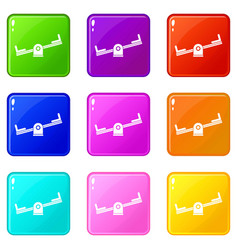 seesaw set 9 vector image vector image
