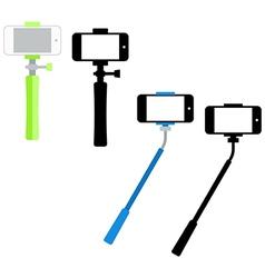 Selfie sticks vector image vector image