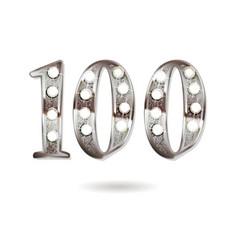 100 years anniversary celebration design vector
